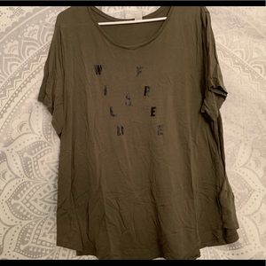 Olive Green Wild & Free T Shirt